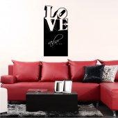 Naklejka tablica - Love