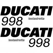 Pegatinas Ducati 998 testa