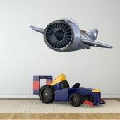 Autocollant Stickers enfant avion tornade