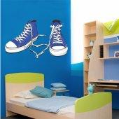 Autocollant Stickers ado chaussure bleue