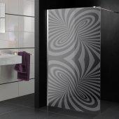 Stickers paroi de douche dépoli design