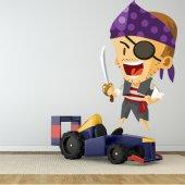 Autocollant Stickers enfant pirate