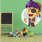 Autocollant Stickers enfant pirate