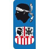 Stickers Plaque ACA Ajaccio