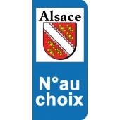 Stickers Plaque Alsace
