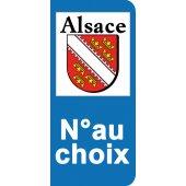 Stickers Plaque Alsace