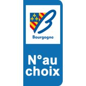 Stickers Plaque Bourgogne