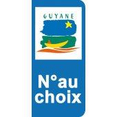 Stickers Plaque Guyane