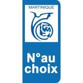 Stickers Plaque Martinique