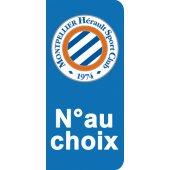 Stickers Plaque Montpellier