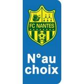 Stickers Plaque Nantes