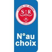 Stickers Plaque Reims