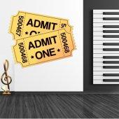 Autocollant Stickers ado ticket cinema