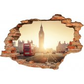 Stickers Trompe l'oeil 3D london