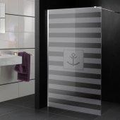 Transparentna Naklejka na Kabiny Prysznicowe - Motyw morski