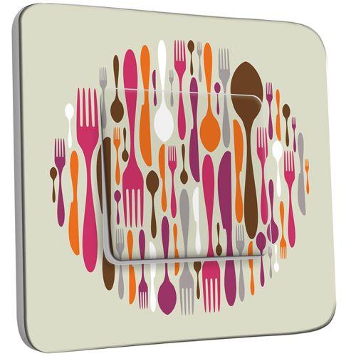 Interrupteur d cor poussoir cuisine couverts design 2 - Interrupteur design pas cher ...