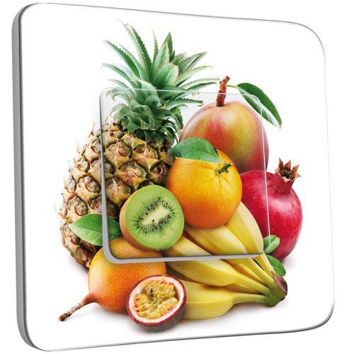 Interrupteur d cor poussoir cuisine life style fruits2 - Stickers cuisine belgique ...