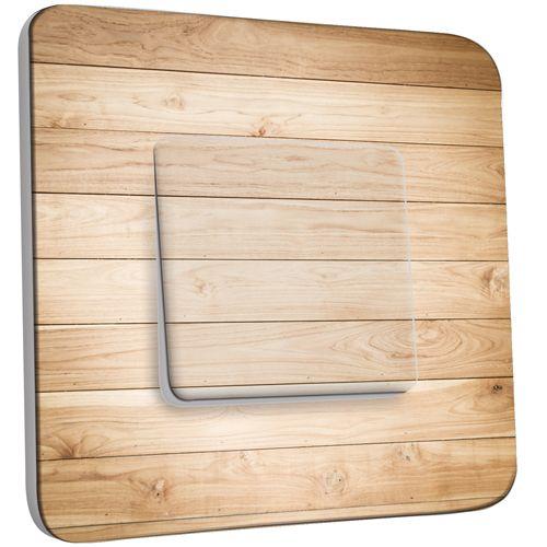 interrupteur d cor poussoir imitation bois 3 pas cher. Black Bedroom Furniture Sets. Home Design Ideas