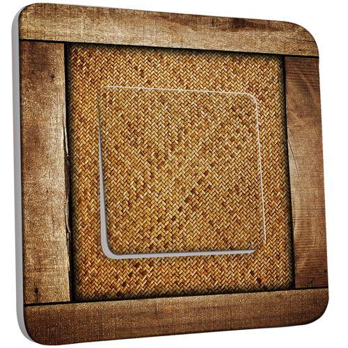 interrupteur d cor poussoir imitation bois 4 pas cher. Black Bedroom Furniture Sets. Home Design Ideas