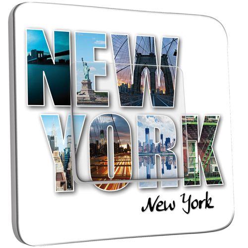 Interrupteur d cor poussoir new york lettres pas cher - Carte grise 3x sans frais ...