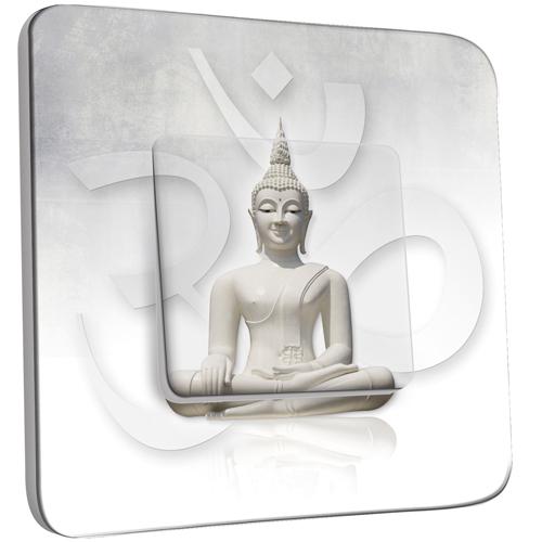 interrupteur d cor simple va et vient bouddha zen blanc. Black Bedroom Furniture Sets. Home Design Ideas