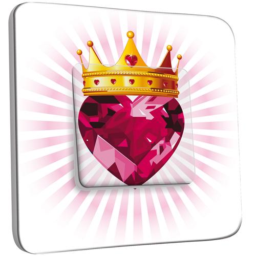 Interrupteur d cor simple va et vient coeur couronn for Coeur couronne et miroir