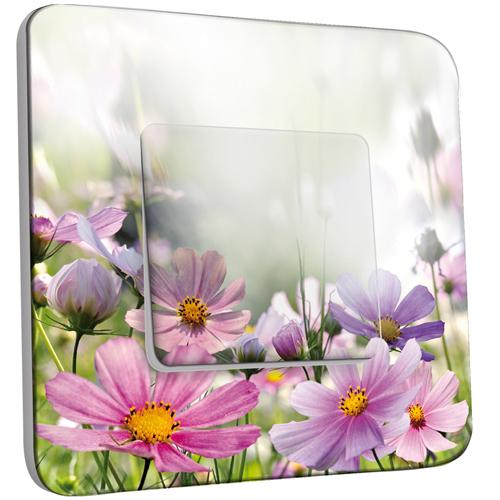 interrupteur d cor simple va et vient fleurs rosesviolets pas cher. Black Bedroom Furniture Sets. Home Design Ideas