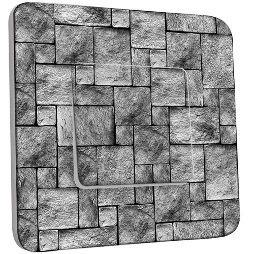 Interrupteur d cor simple va et vient imitation pierre - Stickers muraux imitation pierre ...