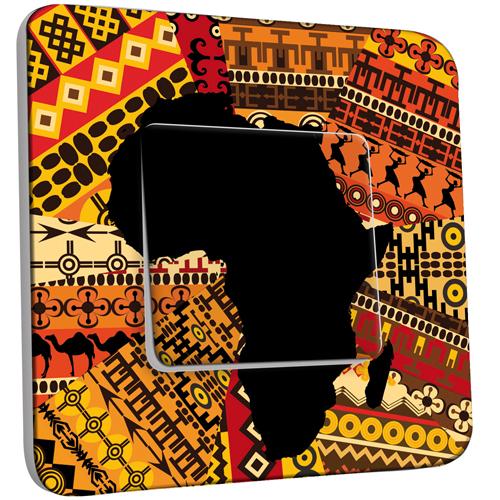Interrupteur d cor simple va et vient motif africain - Interrupteur design pas cher ...
