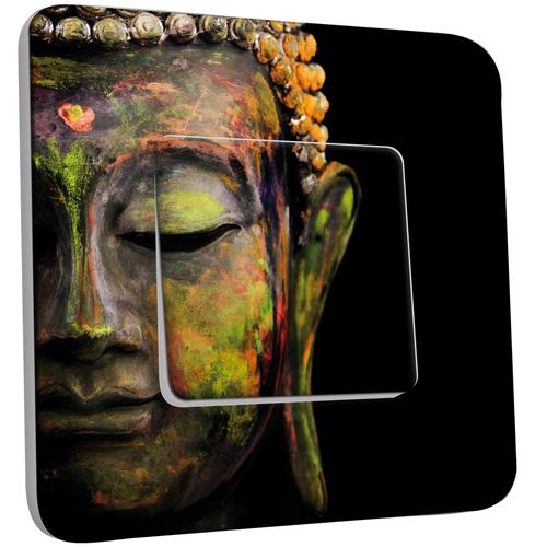 interrupteur d cor simple va et vient t te de bouddha peinture pas cher. Black Bedroom Furniture Sets. Home Design Ideas