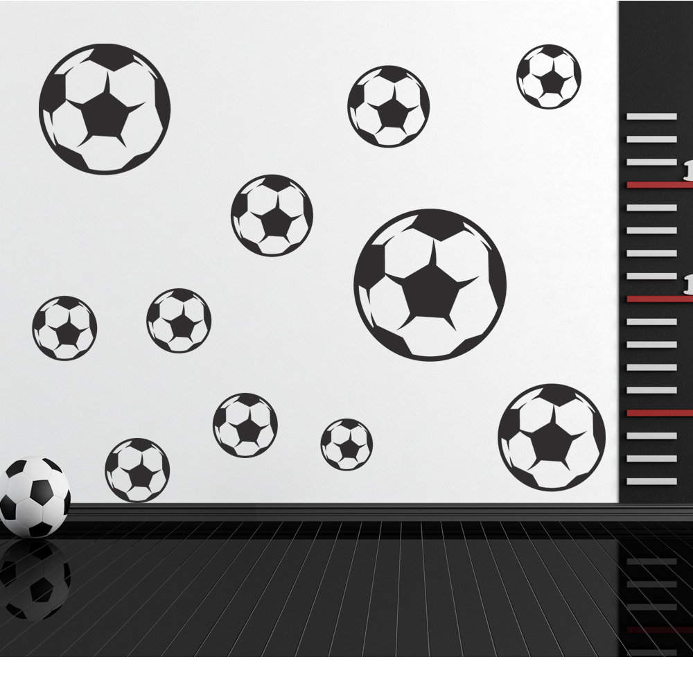 stickers foot pas cher 3d mur de football autocollant mural sticker. Black Bedroom Furniture Sets. Home Design Ideas