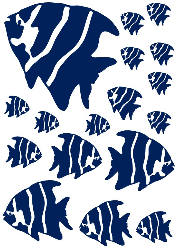 Kit 17 stickers poisson pas cher for Kit poisson rouge