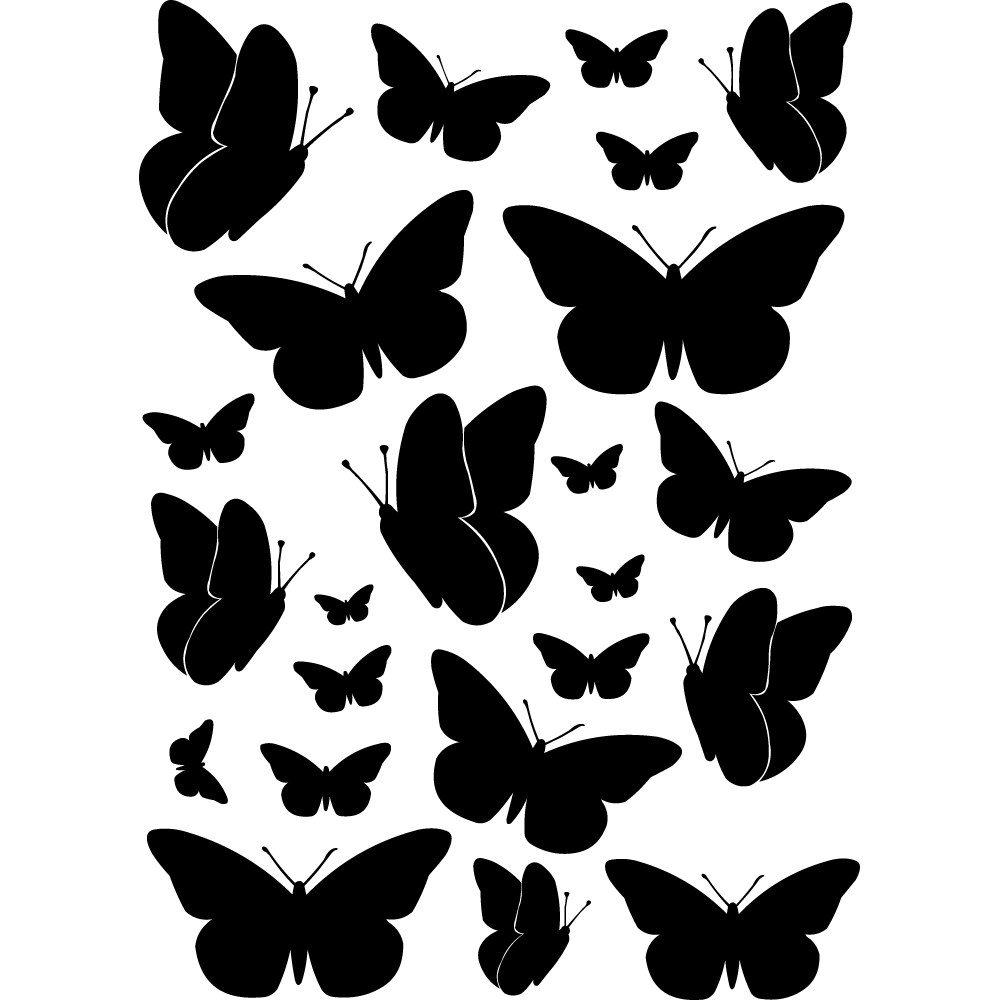 Kit 23 stickers papillons Pas Cher