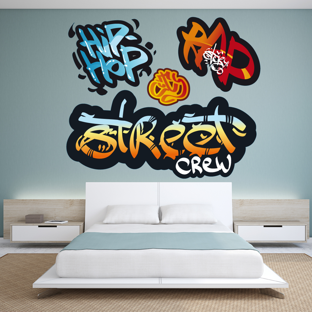 kit 4 stickers graffitis pas cher. Black Bedroom Furniture Sets. Home Design Ideas