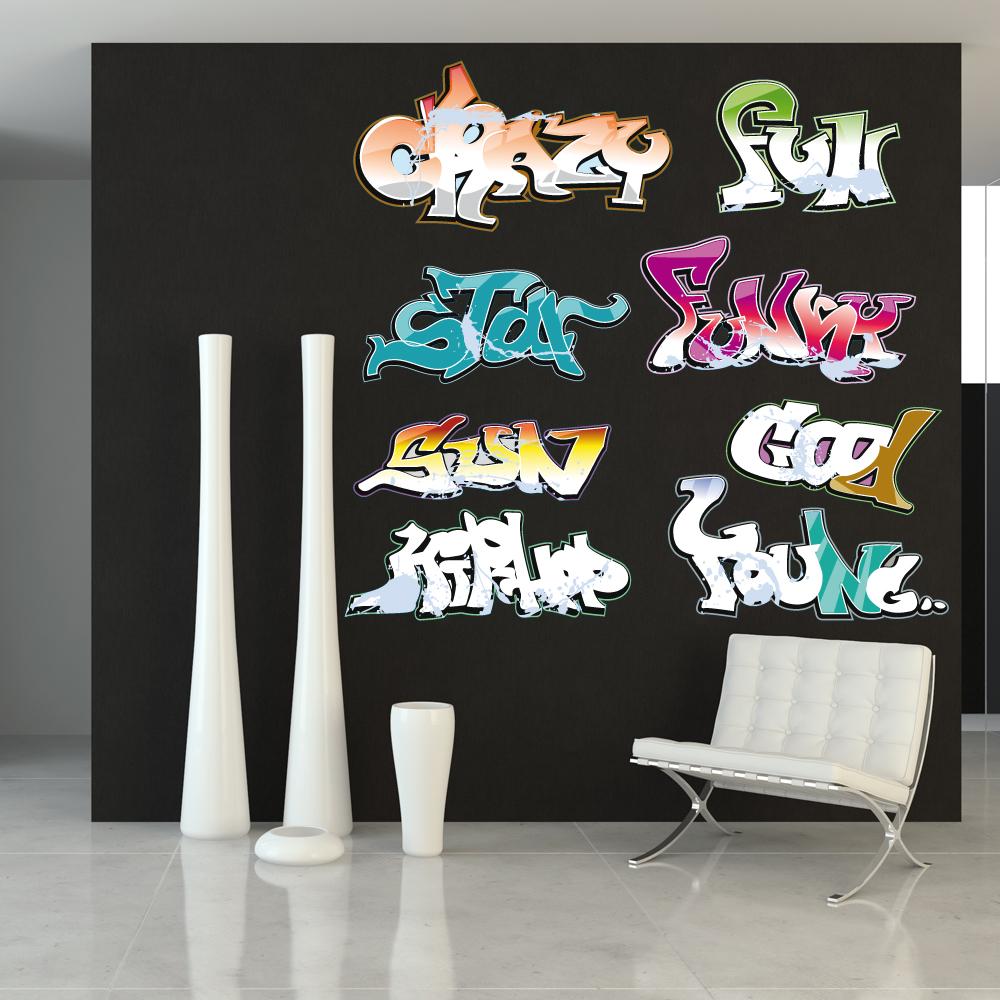 stickers muraux graffiti ado accueil design et mobilier. Black Bedroom Furniture Sets. Home Design Ideas