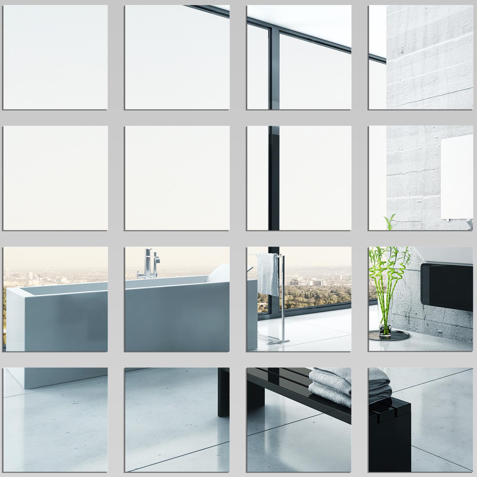 Kit miroir plexiglass acrylique carr s pas cher for Miroir 100x100