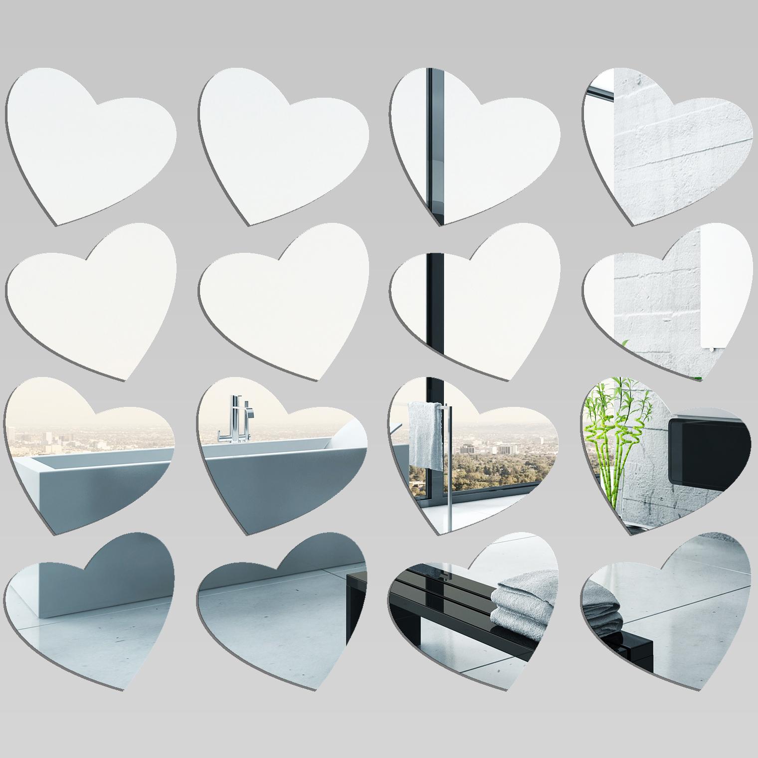 Kit miroir plexiglass acrylique coeurs pas cher for Miroir acrylique