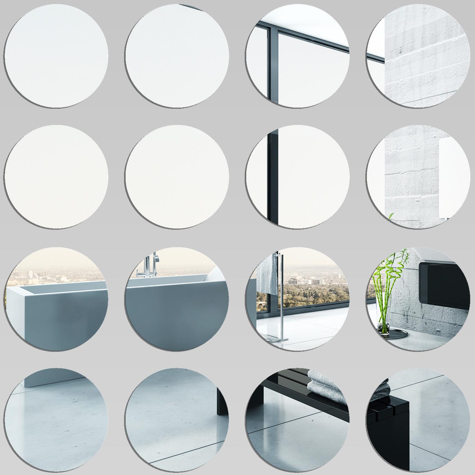 Kit miroir plexiglass acrylique ronds pas cher for Miroir 80x80
