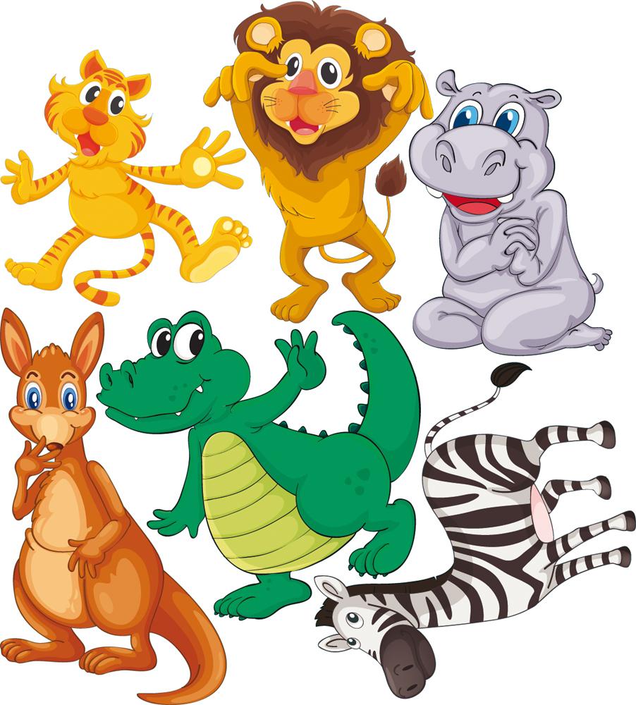 Kit stickers 6 animaux pas cher for Miroir 90x100