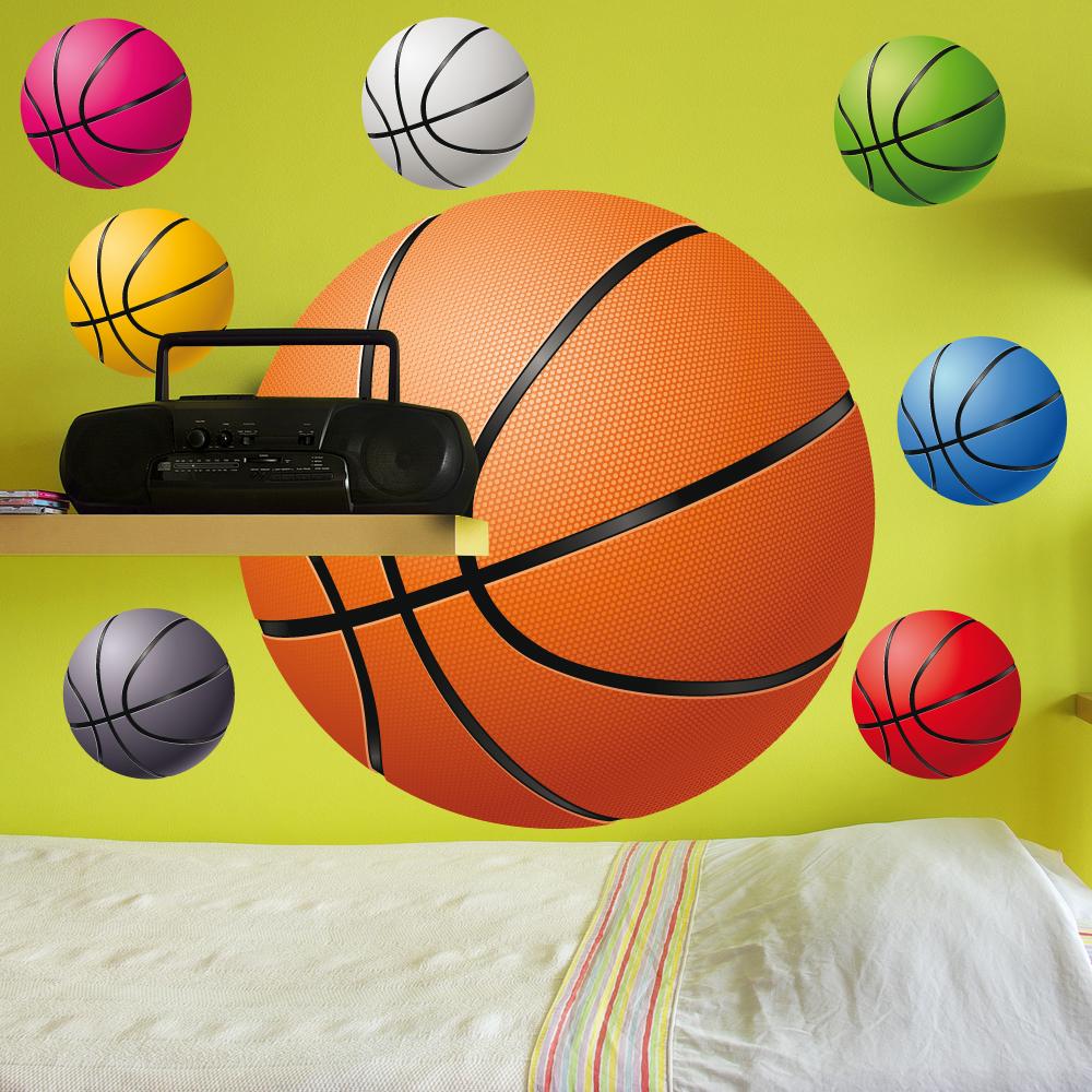 57741be5081e1 Autocollant Stickers ado kit 8 ballons de basketball