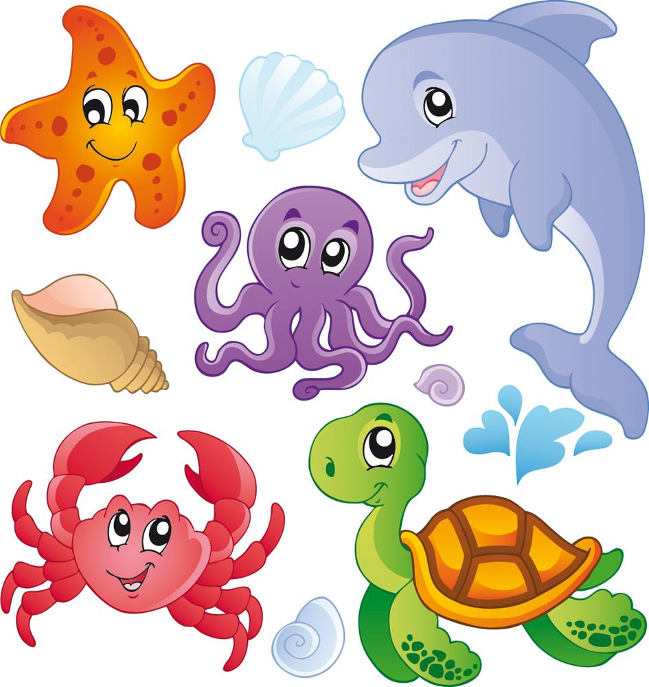 kit Stickers enfants marin Pas Cher