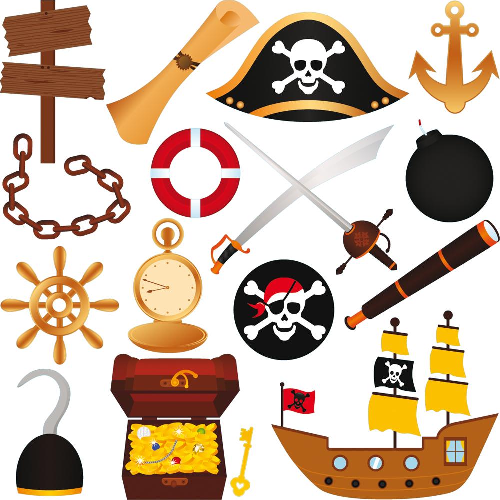 Kit Stickers Pirates Pas Cher