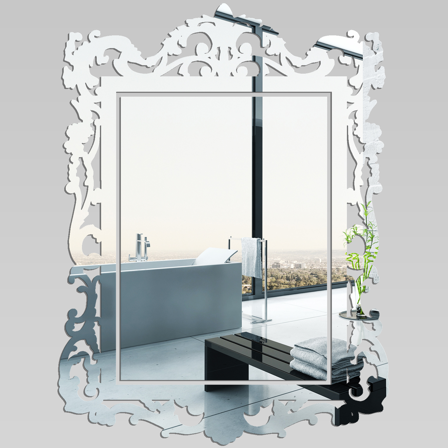 miroir plexiglass acrylique baroque pas cher. Black Bedroom Furniture Sets. Home Design Ideas