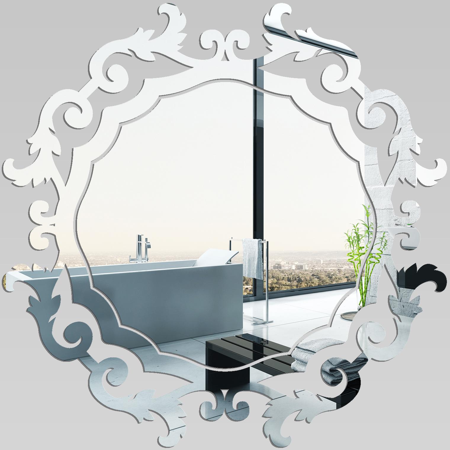 Miroir plexiglass acrylique baroque pas cher for Miroir 50x50