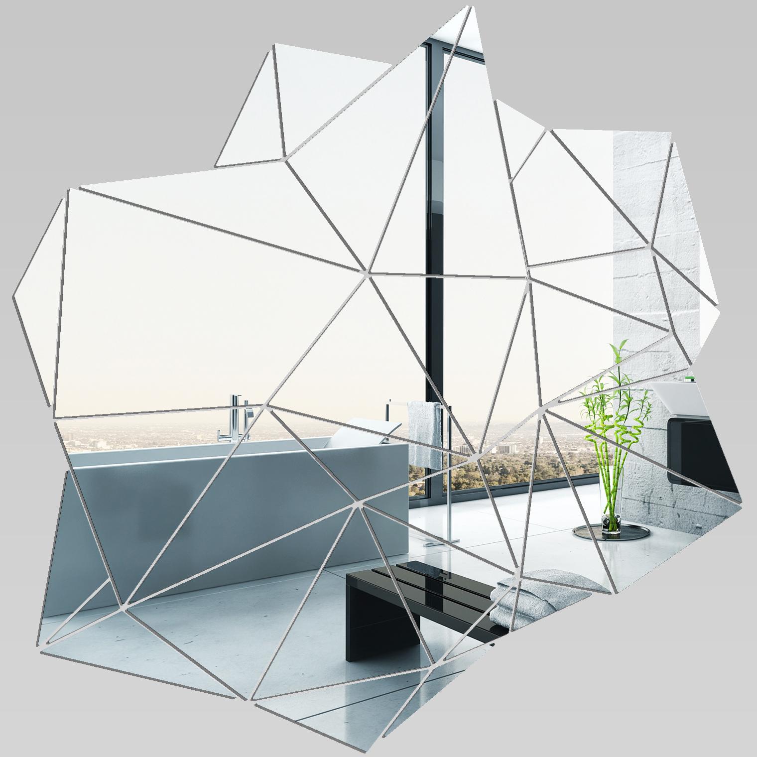 Miroir plexiglass acrylique blocs g om triques pas cher for Miroir geometrique