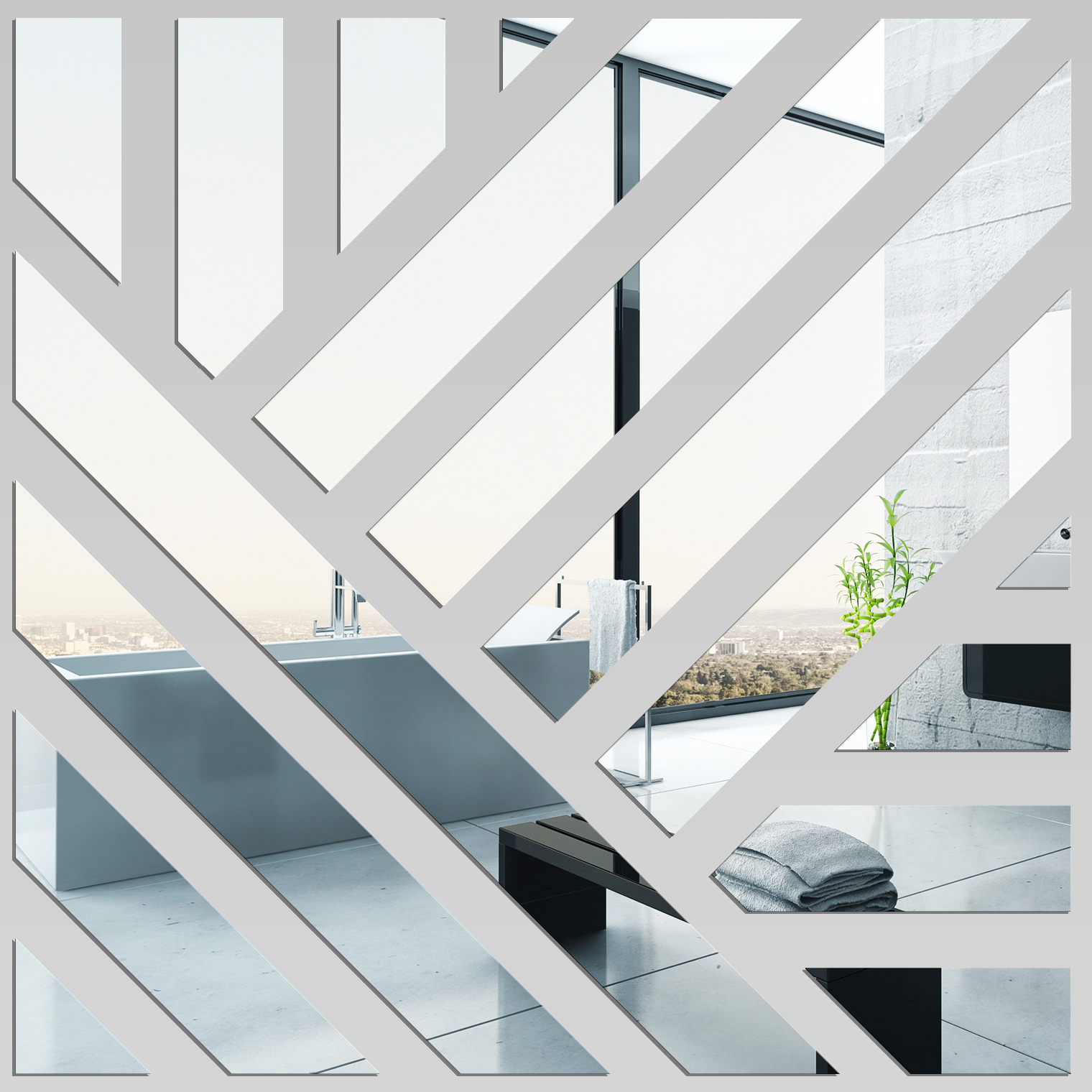 Miroir plexiglass acrylique carr pas cher for Miroir 40x40