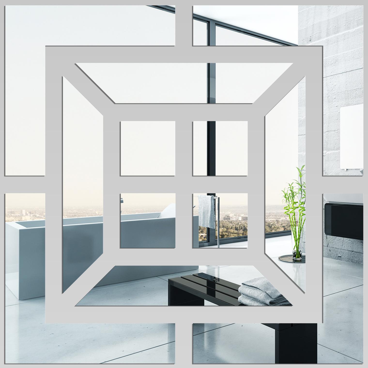 Miroir plexiglass acrylique carr 2 pas cher for Miroir 80x80