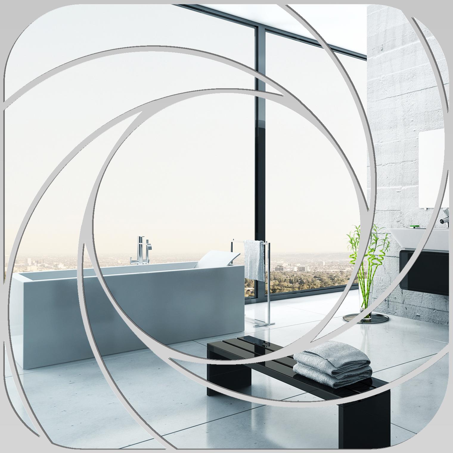 Miroir plexiglass acrylique carr spirales 1 pas cher for Miroir carre pas cher