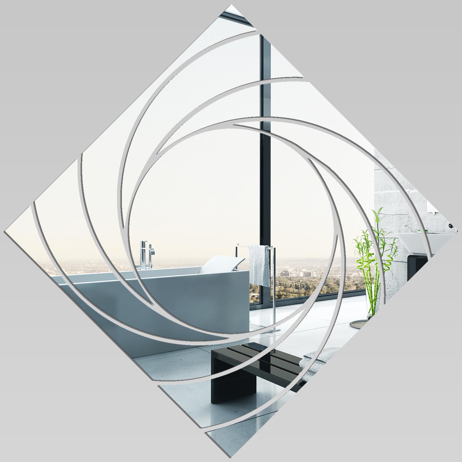 Miroir plexiglass acrylique carr spirales 2 pas cher for Miroir 100x100