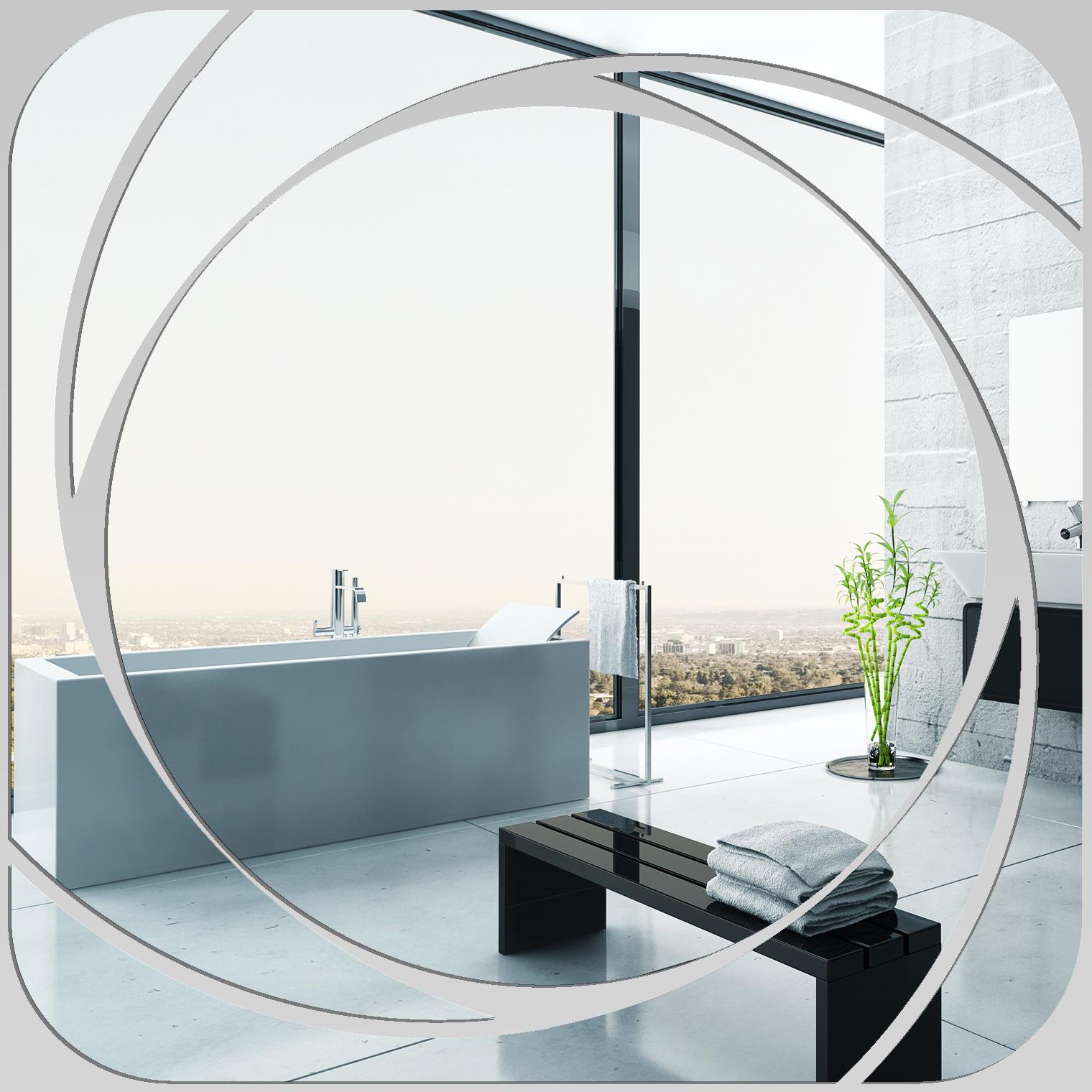miroir plexiglass acrylique carr spirales 3 pas cher. Black Bedroom Furniture Sets. Home Design Ideas